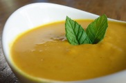 Coconut carrots soup with ginger