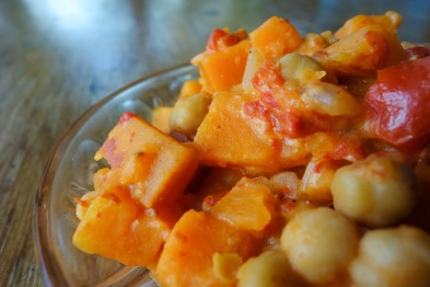 Sweet potatoes, chickpeas curry